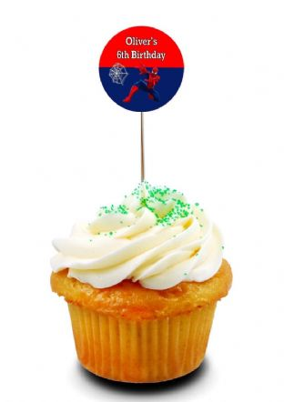 Spider-man Cupcake Picks/Toppers